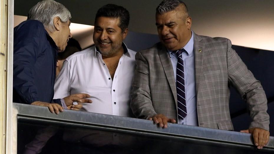 Tras el robo durante el partido, 'Chiqui' Tapia no habla