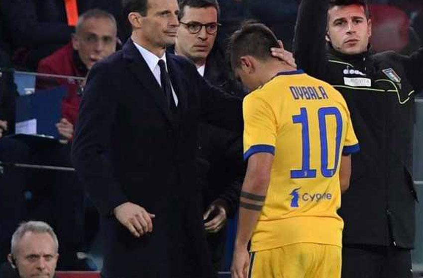 Dybala salió llorando del campo de juego