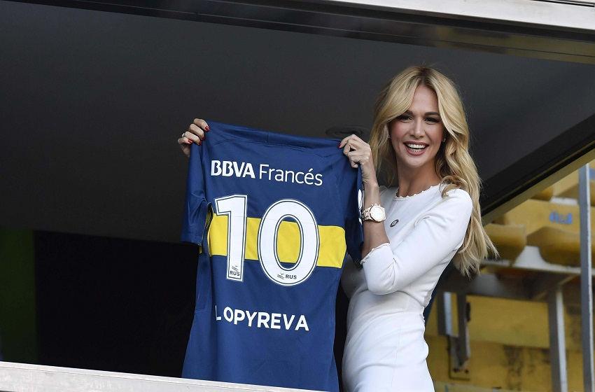 Victoria Lopyreva deslumbró a todos en La Bombonera