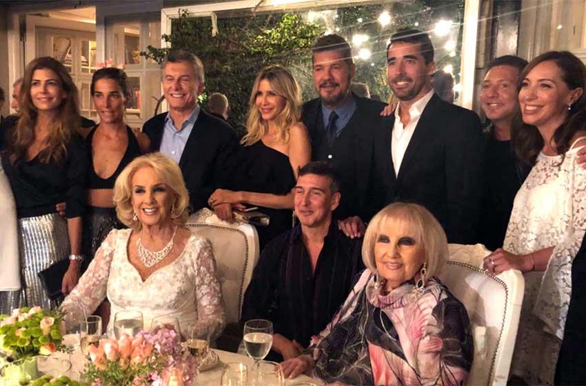 Macri cenó con varios famosos en la quinta de Olivos