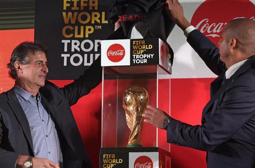 Trofeo de la Copa del Mundo de fútbol en Colombia